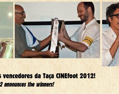 CINEfoot 2012 anuncia os vencedores (english below)