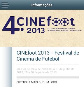 App CINEfoot 2013