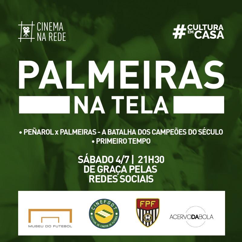 PALMEIRAS NA TELA DA SESSÃO 13 DO CINEMA NA REDE